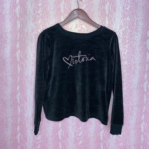 Victoria's Secret black sweatshirt